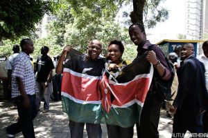 Picture by Michael Mutua. At 1pm on the 28 February 2011 Kenyans in Nairobi