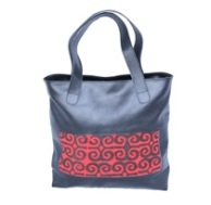 Medium Tote with red:black Adinkra Cloth